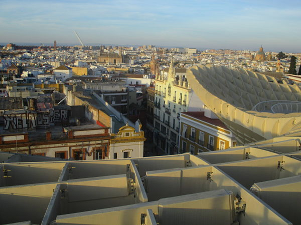 View from the top of the Metropol Parasol Seville