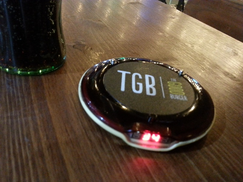 The TGB Flashing Disc Lets You Know When Your Order is Ready