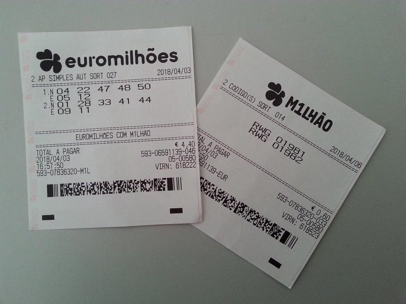 A Euromillions ticket costs €2.30 in Portugal and, when you buy the ticket, they usually charge you an extra 30 cents for a M1lhão ticket.