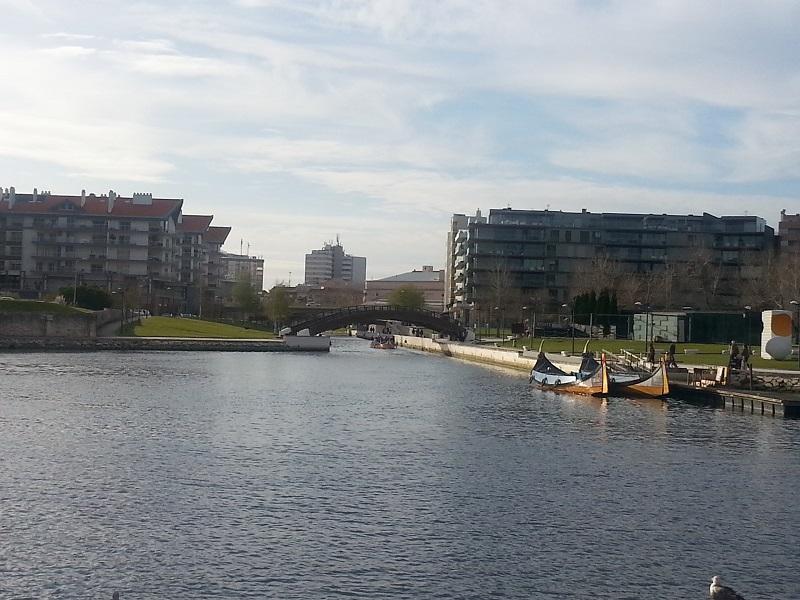 Canal and Portuguese Gondolas in Aveiro