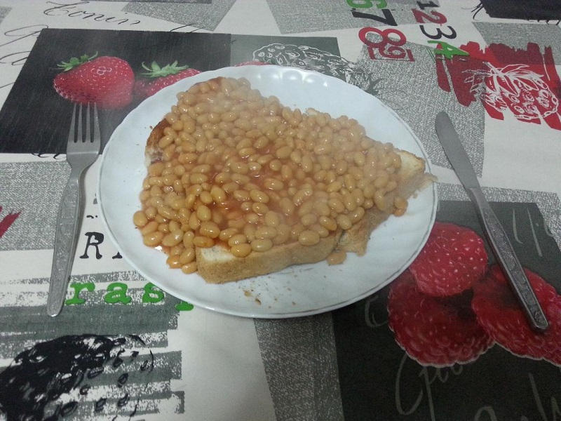 Heinz Baked Beans on Portuguese Toast