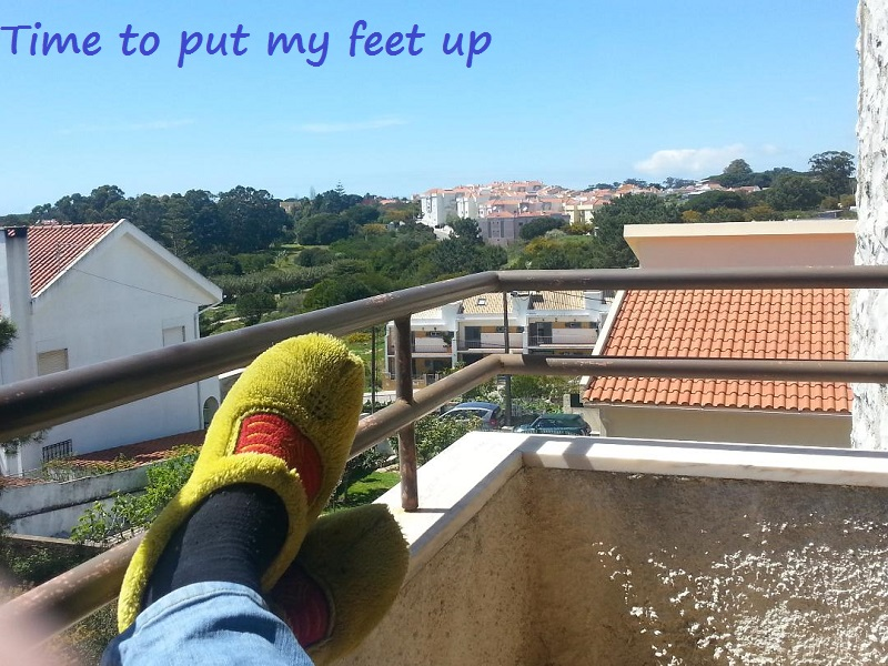 Putting My Feet up in Caparica