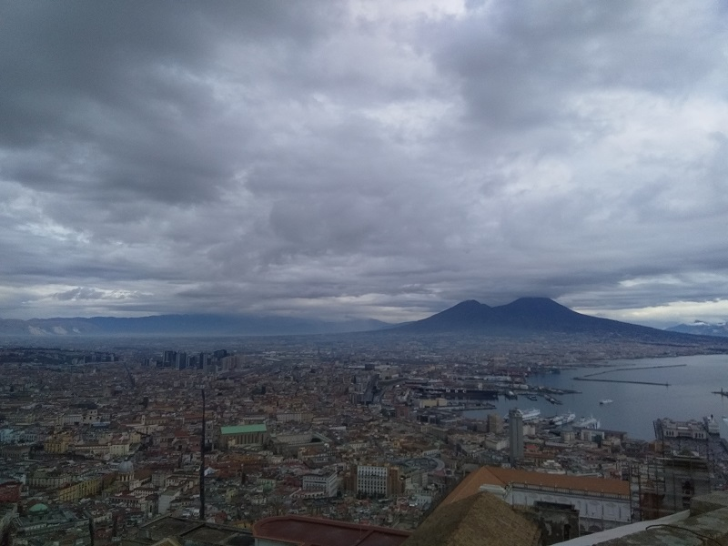 Looking Down on Naples and Mount Vesuvius from Castel San'Elmo