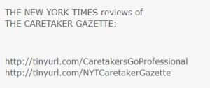 Not Really a Review of the Caretaker Gazette