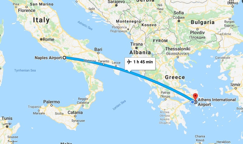 Naples to Athens with Easy Jet