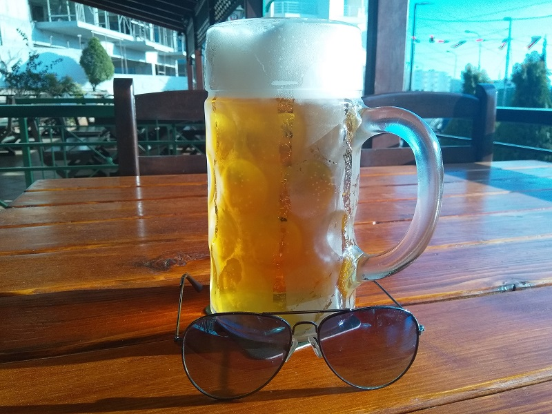 Kaon Beer, Served in a 1 Liter Glass (At the Beer House, Saranda, Albania)