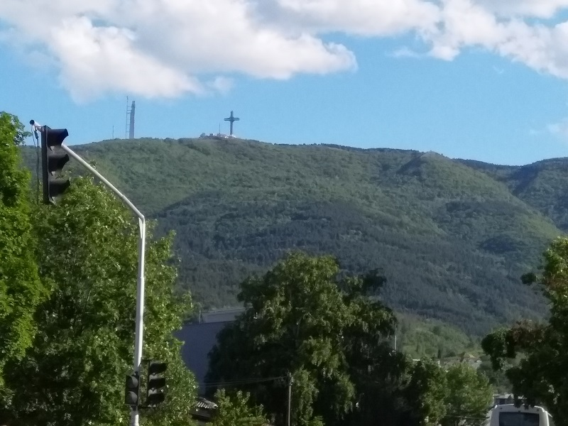 The Millennium Cross is situated on top of Mount Vodno in Skopje, Macedonia and stands 66 meters tall.
