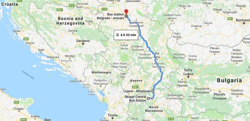 Skopje to Belgrade by Bus