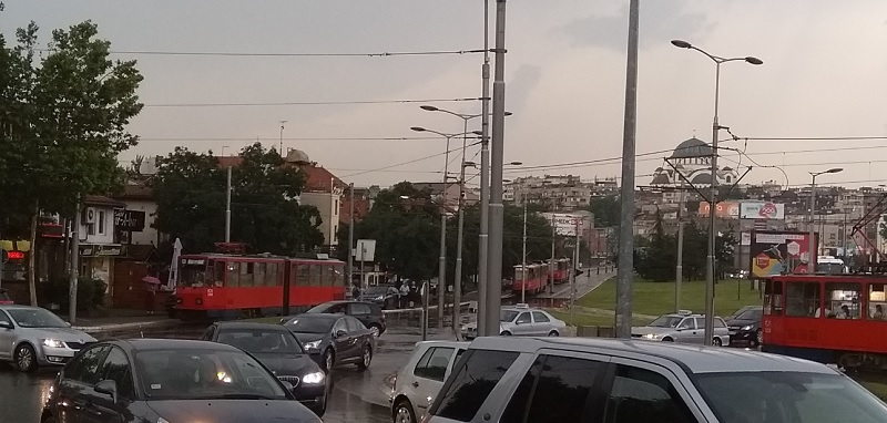 Apparently, if there's too much rain in Belgrade it brings the trams to a stop.