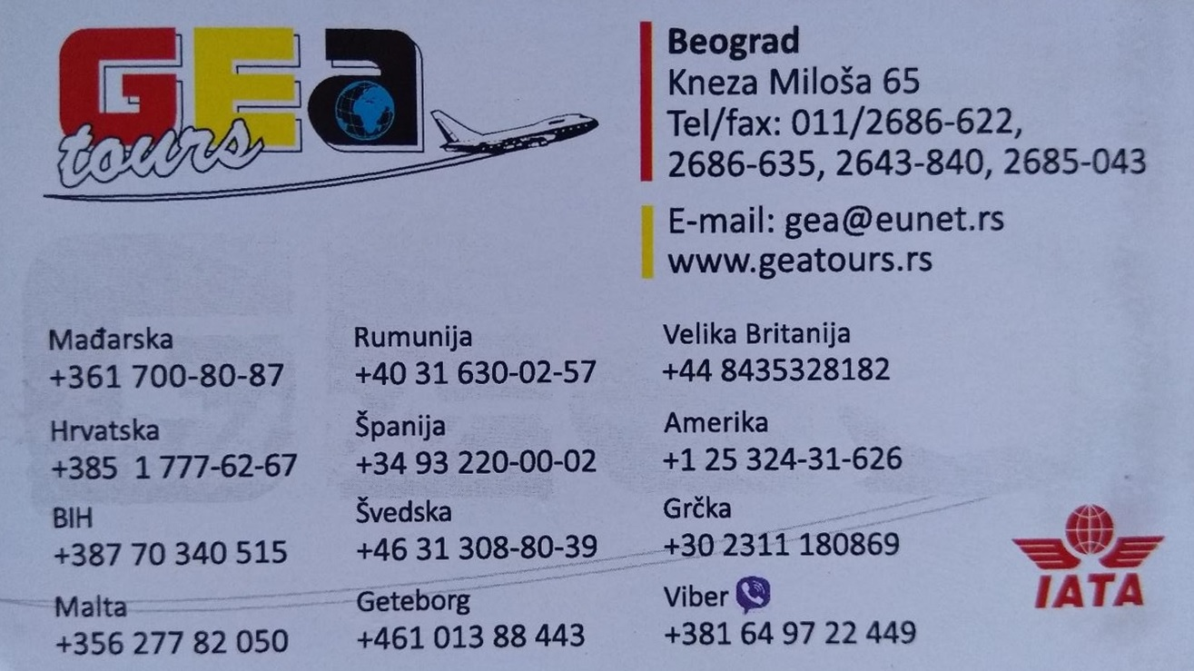 GEA Tours Contact Information