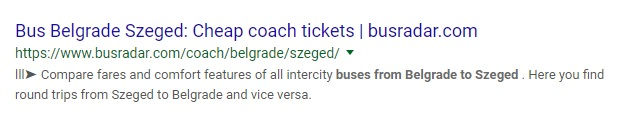 BusRadar: The SERPS are Wrong. It Won't Get You There