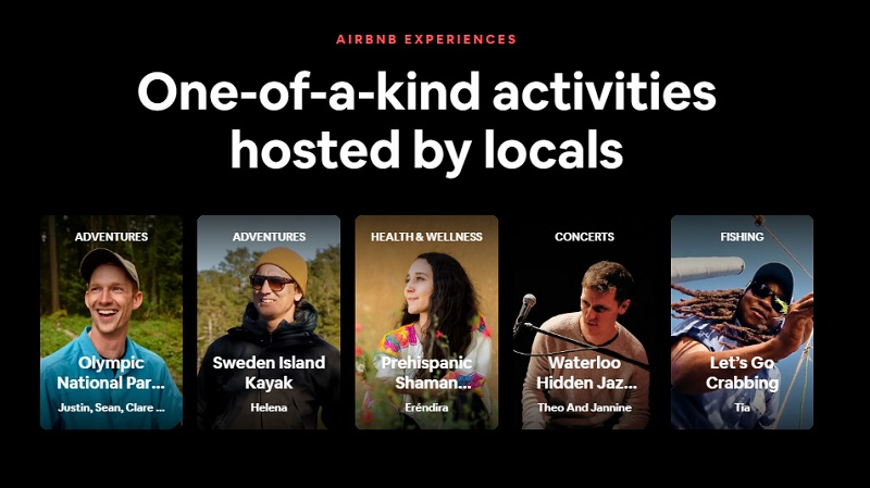 Airbnb Advert for Local Ativities