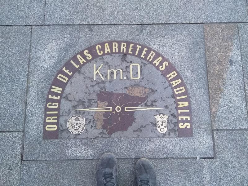 Kilometre 0 Marker in Madrid, Spain