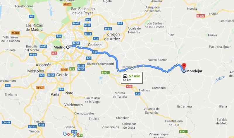 Map from Madrid