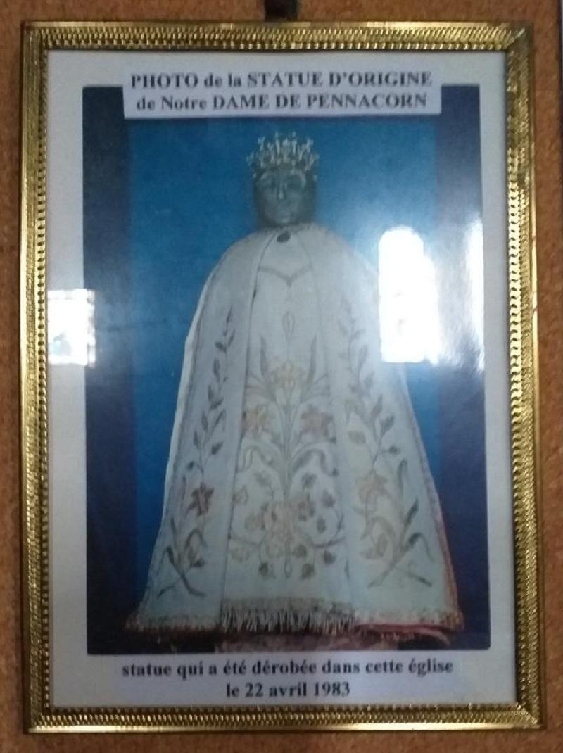 Picture of the original statue of Notre Dame de Pennacorn