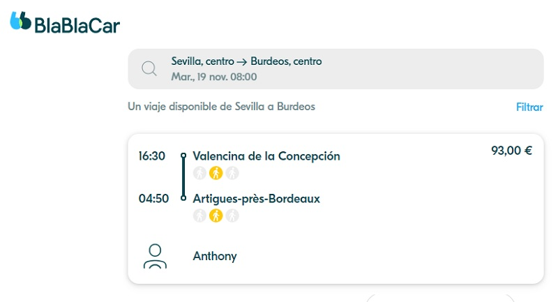 Seville to Bordeaux: BlaBlaCar may cost more than a lot of people think