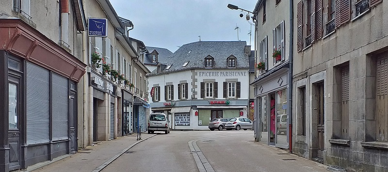 Street in Neuvic, France on a Monday Afternoon