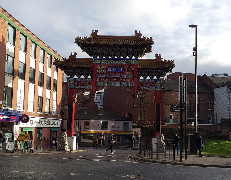 The Chinese Arch that Marks the Entrance to China Town in Newcastle upon Tyne
