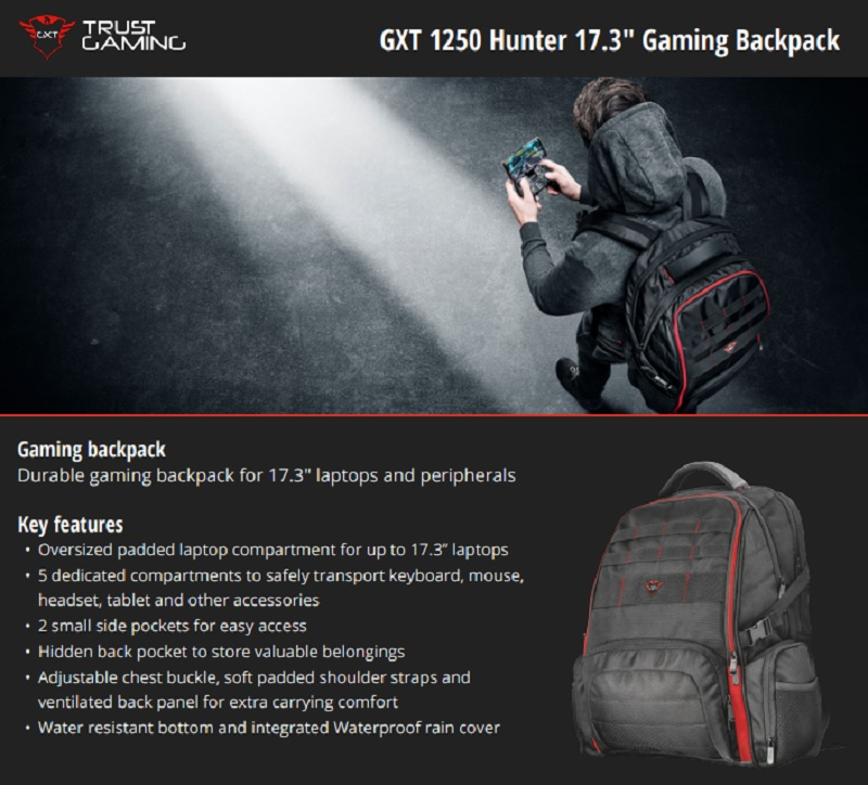 Specs (Trust Gaming Backpack)