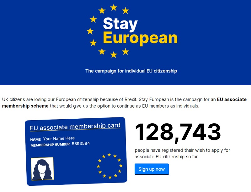 Individual EU Citizenship via the Stay European Campaign