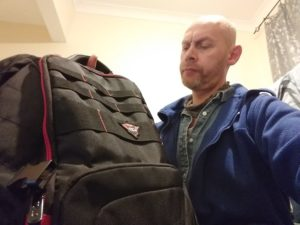 Steve Calvert and the Trust GXT 1250 Hunter Gaming Backpack