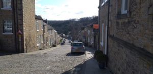 Typical Old Street in Richmond, North Yorkshire