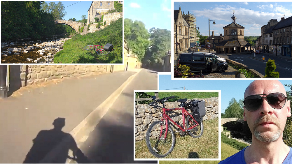 Barnard Castle, Greta Bridge, Raleigh Firefly bike, Steve Calvert