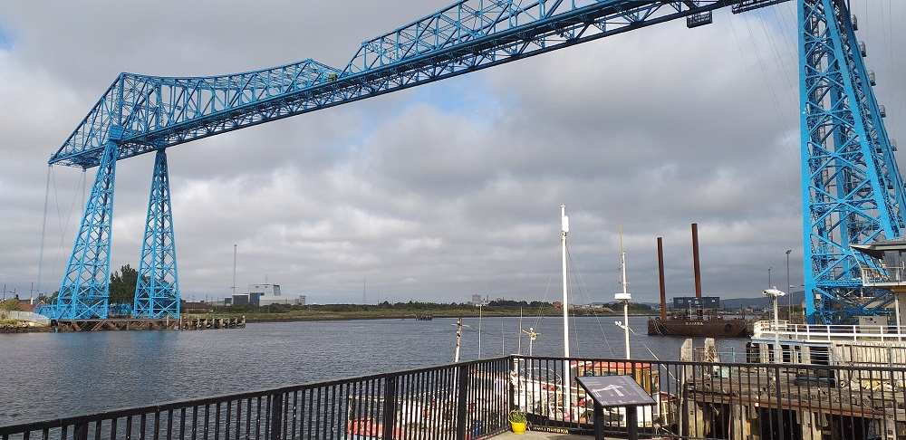 Photograph of Middlesbrough Transporter Bridge (Taken from the Viewing Point Next to the River)