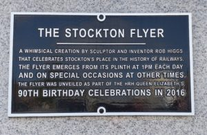 Information Plaque about the Stockton Flyer