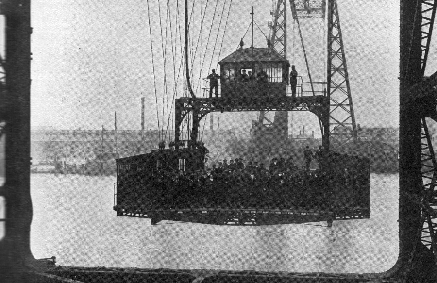 Early Picture of the Gondola Crossing the Tees