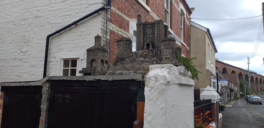 The only castle at Yarm is a model that sits on top of someone's wall