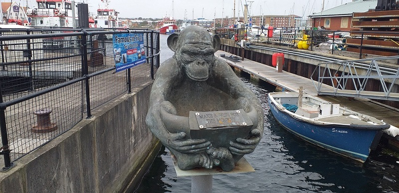 Monkey Statue at Hartlepool Marina