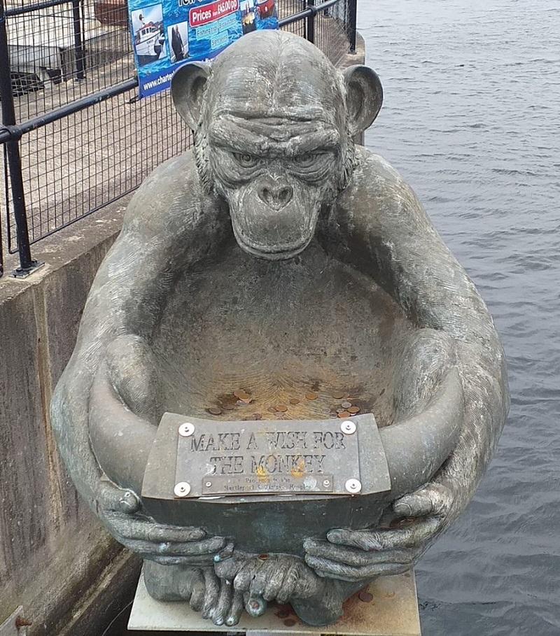 Make a Wish for the Monkey (at Hartlepool Marina)