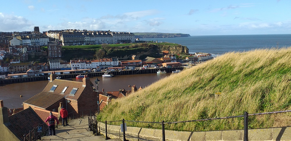 View of Whitby Town and Harbour (Taken from the 199 Abbey Steps)