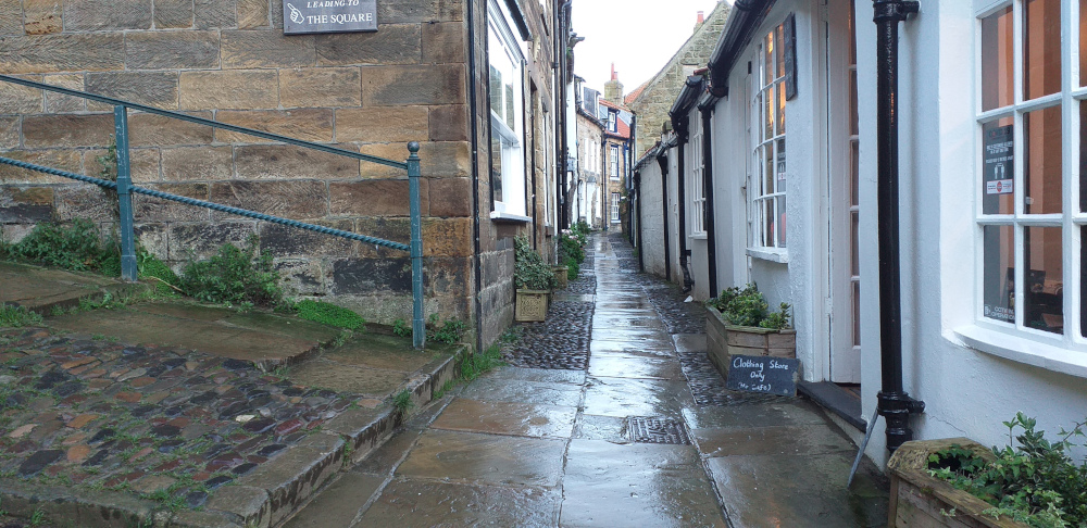 Narrow, Cobbled Street at Robin Hood's Bay