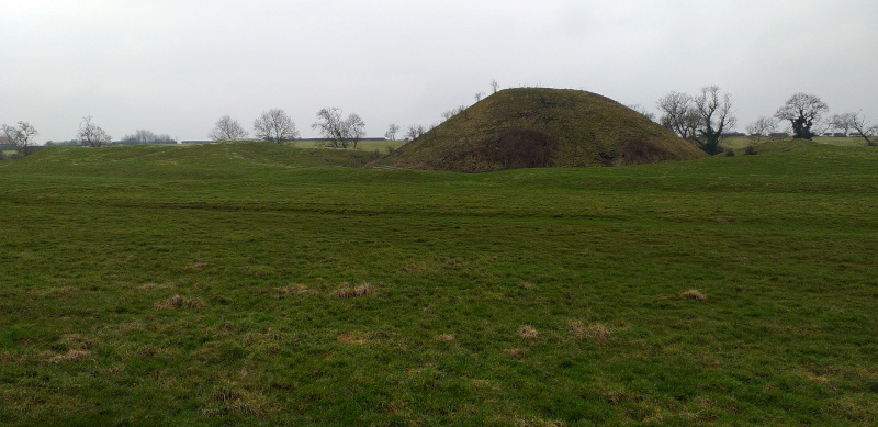 Although this hill at Bishopton resembles a burial mound, it's was built as part of a castle.