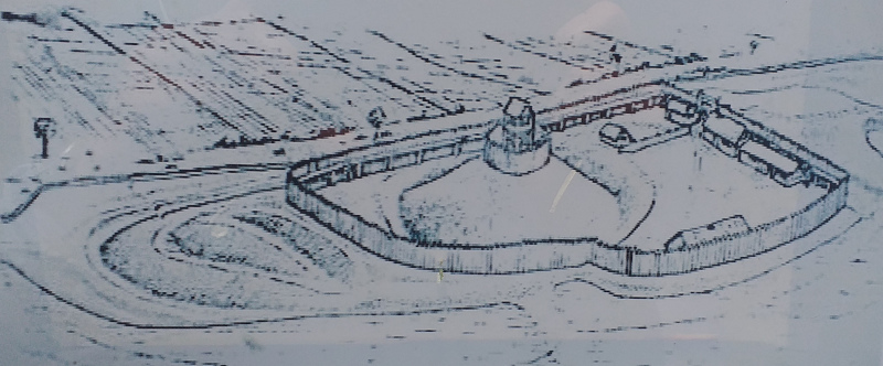 Artist's Representation of Bishopton Castle (Taken from the Information Board on the Site