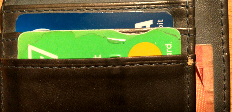 Wear to Edge of Debit Card