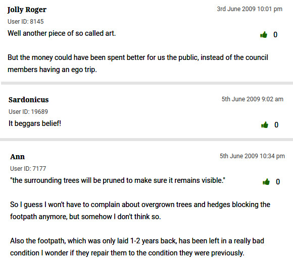 In Our Image: Local comments about the sculpture